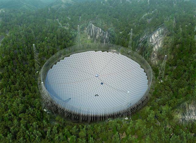 Ya se ha instalado el telescopio más grande del mundo y está enChina