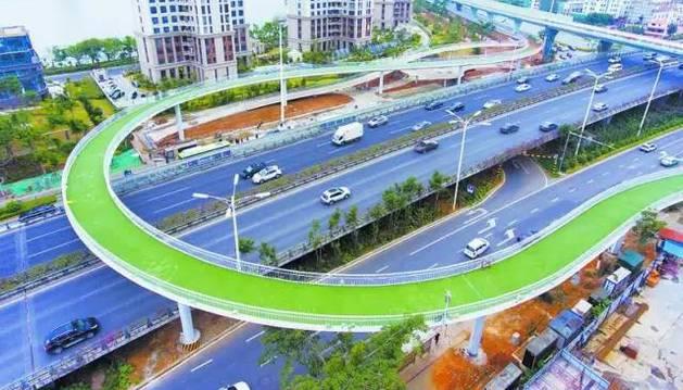 En China inauguran la ciclovía elevada más larga delmundo
