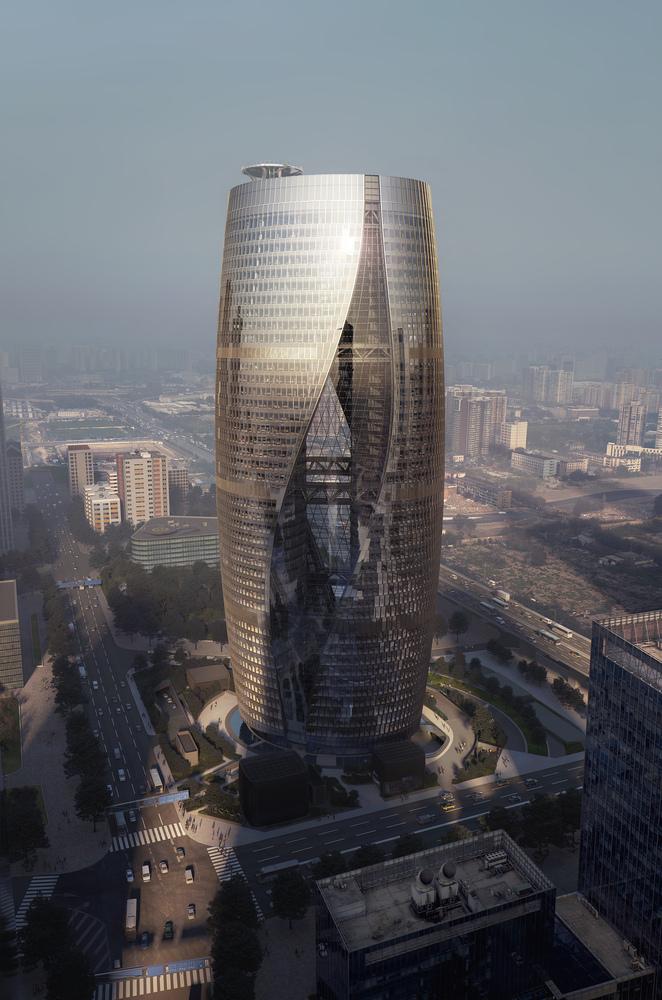 Zaha Hadid Architects presenta rascacielos con el atrio más alto delmundo