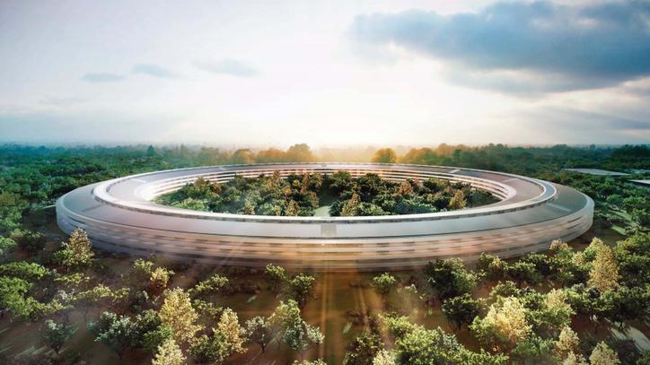 Así ha sido la construcción del Apple Campus en unaño