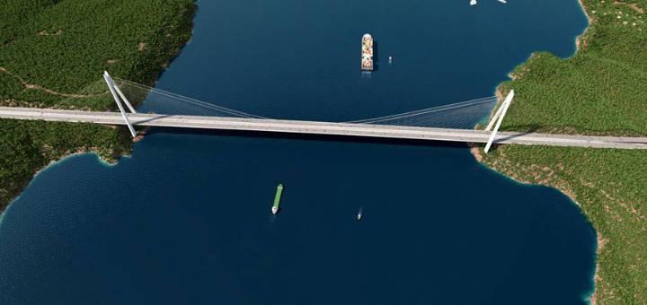 Puente Yavuz Sultan Selim de Estambul,Turquía