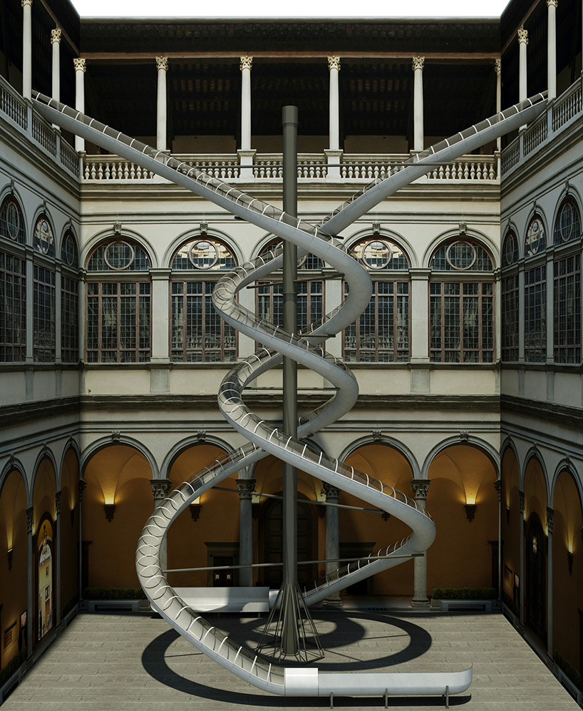 Slide on Down! Double Helix Installation Zooms Visitors Through a Renaissance Palace